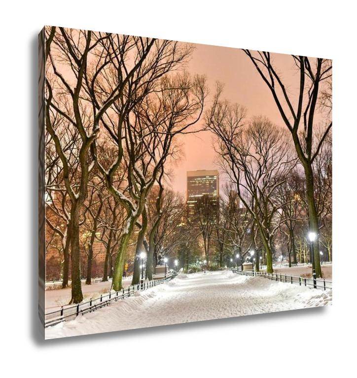 Gallery Wrapped Canvas, Central Park Night New York City