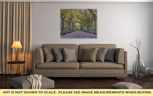 Gallery Wrapped Canvas, Autumn Colors In Central Park Manhattan New York