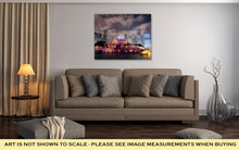 Load image into Gallery viewer, Gallery Wrapped Canvas, Chicago Skyline Skyscrapers Buckingham Fountain Grant Park Night