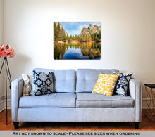 Load image into Gallery viewer, Metal Panel Print, Yosemite Lake With Waterfall On