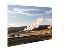 Load image into Gallery viewer, Metal Panel Print, Old Faithful Yellowstone National Park Wyoming USA