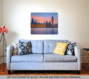 Metal Panel Print, Big Ben And Houses Of Parliament At Dusk London UK