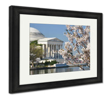 Load image into Gallery viewer, Framed Print, Spring Washington Dc Cherry Blossom Festival Jefferson Memorial