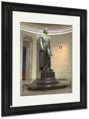 Framed Print, Washington Dc Jefferson Memorial And Declaration Of Independence