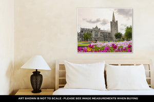 Gallery Wrapped Canvas, Spire Of Dublin Saint Patrick Cathedral In Dublin