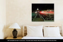 Load image into Gallery viewer, Gallery Wrapped Canvas, Washington Dc United States Capitol Building Night View From
