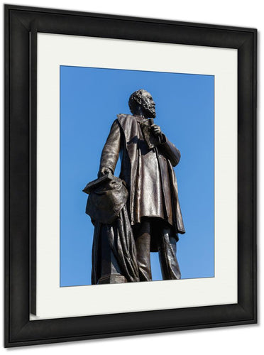 Framed Print, Statue To Assassinated President James Garfield