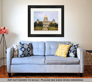 Framed Print, State Capitol Building In Des Moines