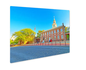 Metal Panel Print, Independence Hall Of Philadelphia