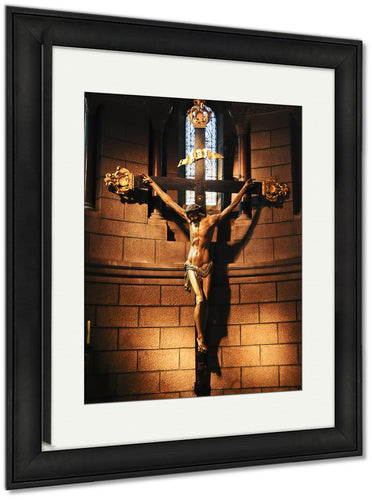 Framed Print, Jesus On The Cross