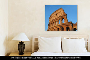 Gallery Wrapped Canvas, The Colosseum In Rome Italy