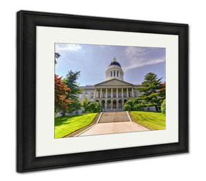 Framed Print, Capitol Building Maine State House