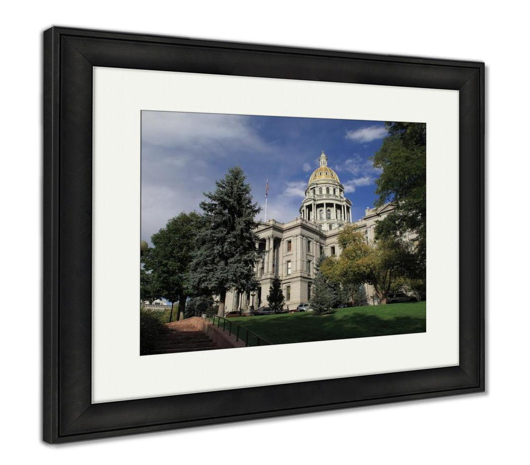 Framed Print, Colorado Capitol Building In Denver