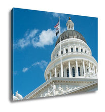 Load image into Gallery viewer, Gallery Wrapped Canvas, Sacramento State Capitol Building Of California