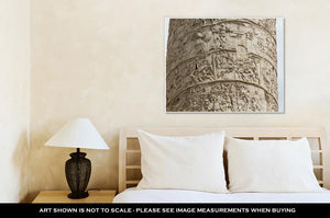 Gallery Wrapped Canvas, Column Of Tajan Roman Triumphal Column In Rome Italy