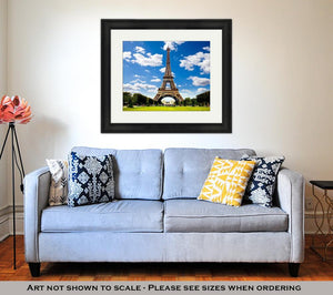 Framed Print, Beautiful Photo Of The Eiffel Tower In Paris