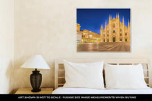 Load image into Gallery viewer, Gallery Wrapped Canvas, Night At The Duomo Of Milan Cathedral In Italy