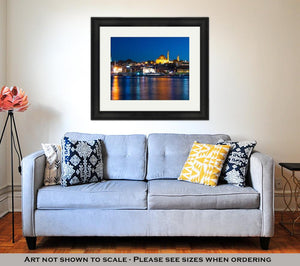 Framed Print, Evening In Istanbul And Rustem Pasa Mosque