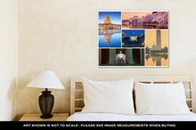 Load image into Gallery viewer, Gallery Wrapped Canvas, Washington Dc Famous Landmarks Picture Collage