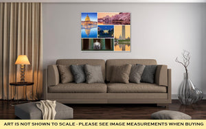 Gallery Wrapped Canvas, Washington Dc Famous Landmarks Picture Collage
