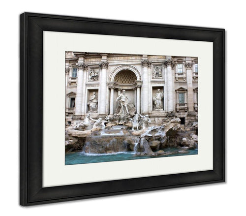 Framed Print, Rome Trevi Fountain