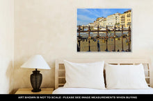 Load image into Gallery viewer, Gallery Wrapped Canvas, Padlocks On Ponte Vecchio Symbolizing Everlasting Love Florence