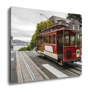 Gallery Wrapped Canvas, Cable Car In San Francisco