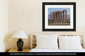 Framed Print, Ancient Greek Temple Of Olympian Zeus Athens