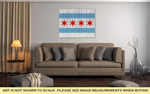 Load image into Gallery viewer, Gallery Wrapped Canvas, Chicago Flag On Wood