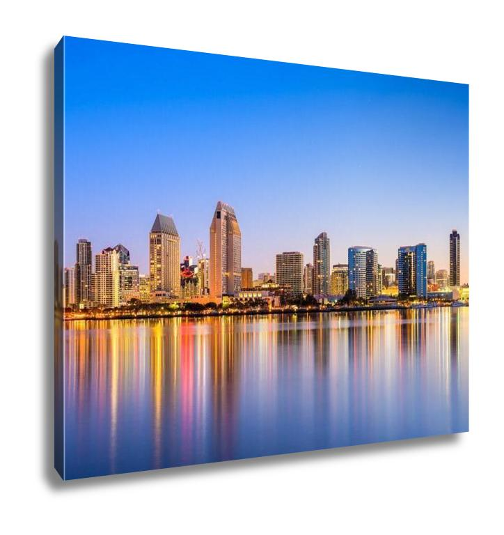 Gallery Wrapped Canvas, San Diego Californiusskyline