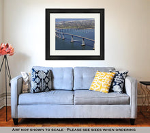 Load image into Gallery viewer, Framed Print, Panoramic View Of San Diegos Coronado Bay Bridge