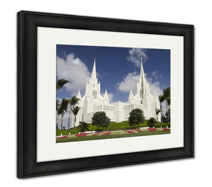 Framed Print, Mormon Temple San Diego California