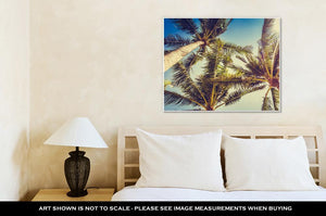 Gallery Wrapped Canvas, Coconut Palm Tree