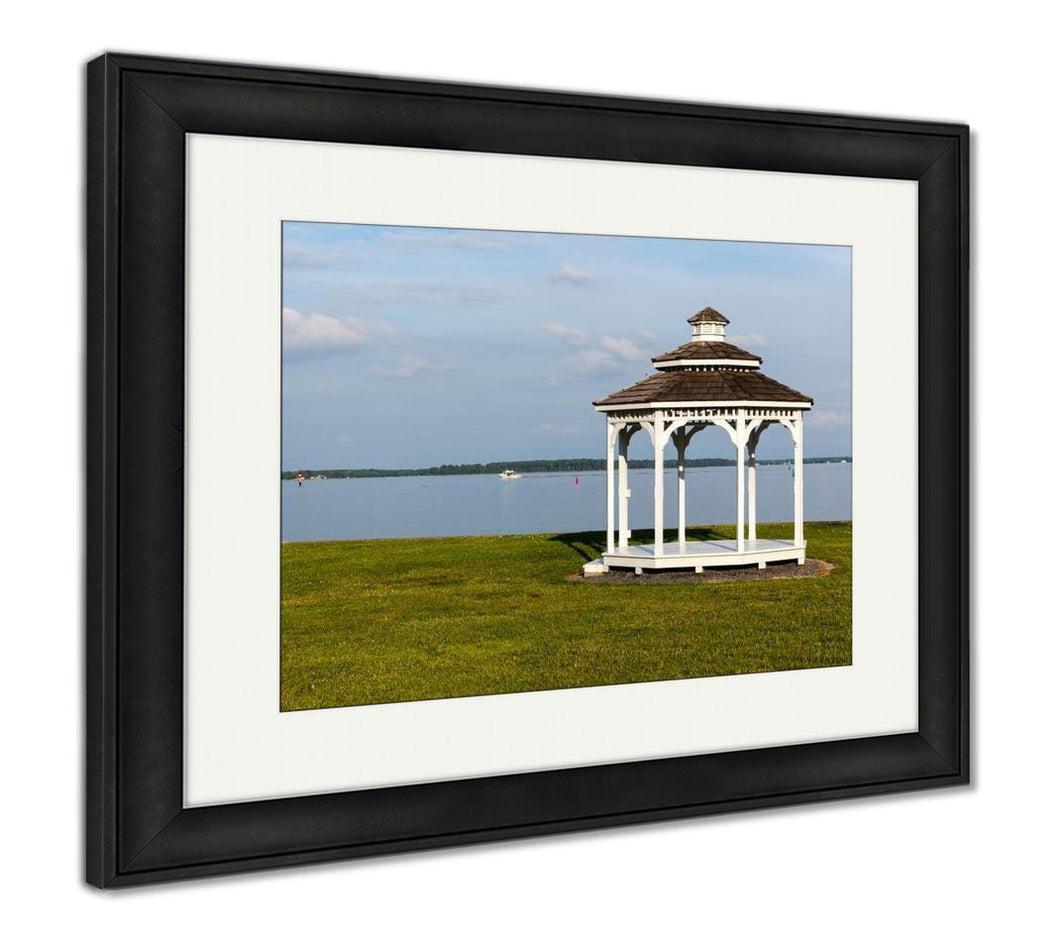 Framed Print, Pair Of Garden Chairs By Chesapeake Bay