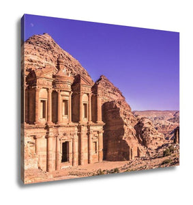 Gallery Wrapped Canvas, The Monastery Petra Jordan