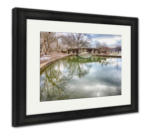 Framed Print, The Stone Bridge At Freedom Park In Charlotte Nc
