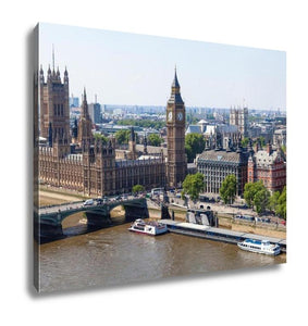 Gallery Wrapped Canvas, London In An Aerial View