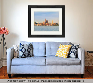 Framed Print, Cleveland On The Water