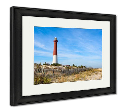 Framed Print, Lighthouse On The Beach