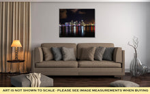 Load image into Gallery viewer, Gallery Wrapped Canvas, Downtown Of Miami Night Skyline Landscape City