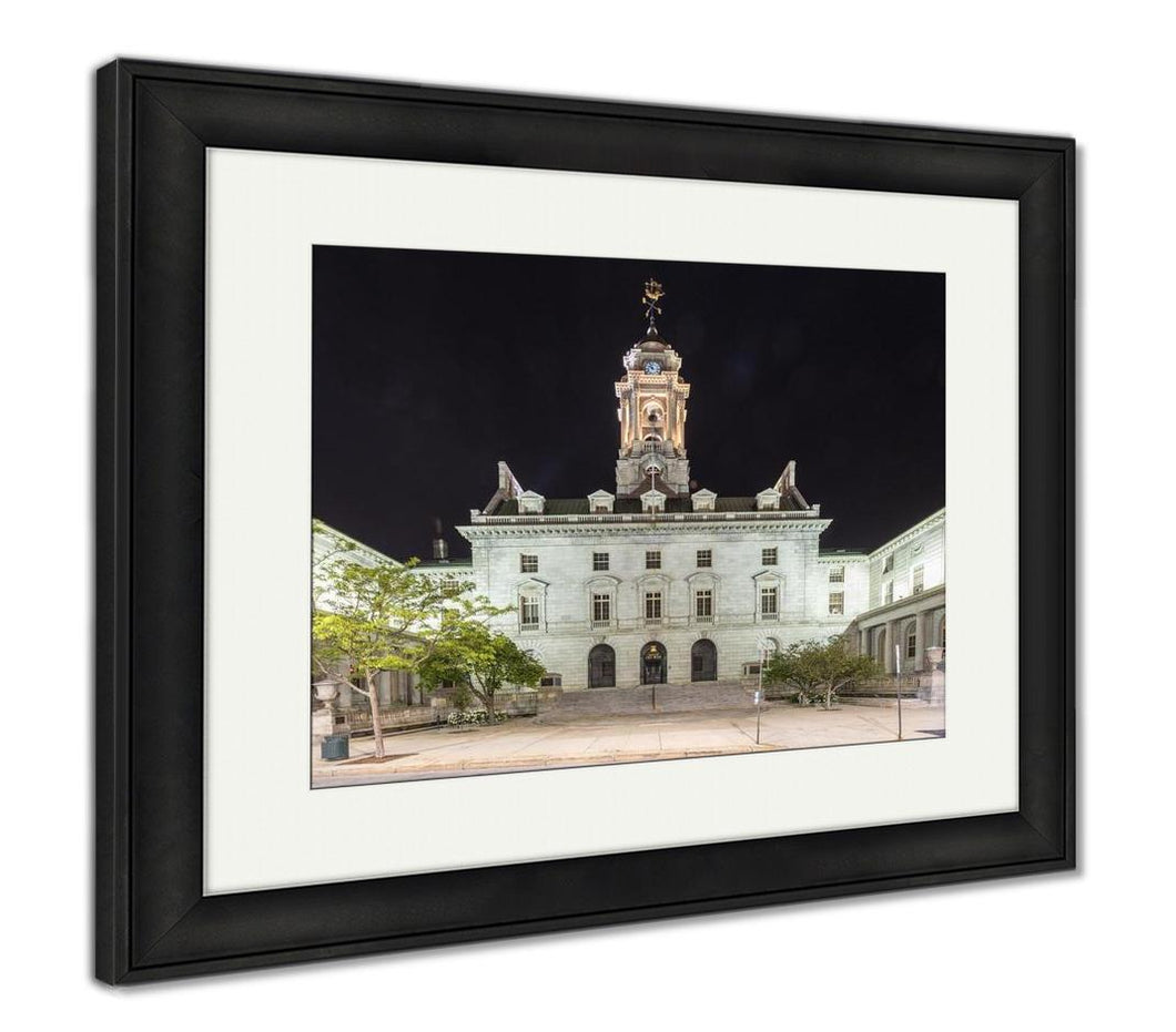 Framed Print, Portland City Hall Maine