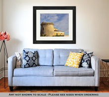 Load image into Gallery viewer, Framed Print, Home Castle At Sunset On A Sky With Clouds