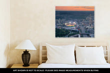 Load image into Gallery viewer, Gallery Wrapped Canvas, Boston Aerial View At Sunset
