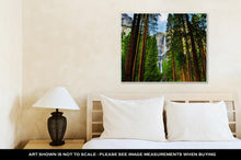 Load image into Gallery viewer, Gallery Wrapped Canvas, Yosemite Waterfalls Behind Sequoias In Yosemite National Parkcalifornia