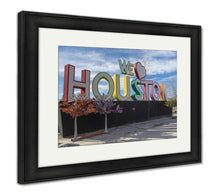Load image into Gallery viewer, Framed Print, We Love Houston Composition Texas USA