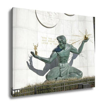 Load image into Gallery viewer, Gallery Wrapped Canvas, Spirit Of Detroit Statue