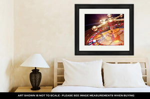 Framed Print, Las Vegas High Resolution 3d Rendering Of Roulette