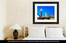 Load image into Gallery viewer, Framed Print, Overview Of Downtown Dallas