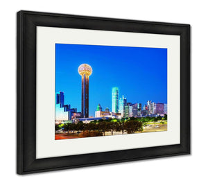 Framed Print, Overview Of Downtown Dallas