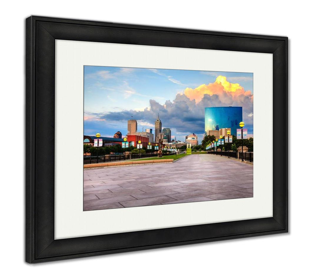 Framed Print, Indianapolis Skyline